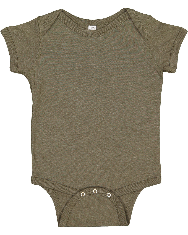Rabbit Skins Infant Fine Jersey Bodysuit VNT MILITARY GRN