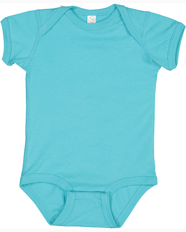 Rabbit Skins Infant Fine Jersey Bodysuit CARIBBEAN