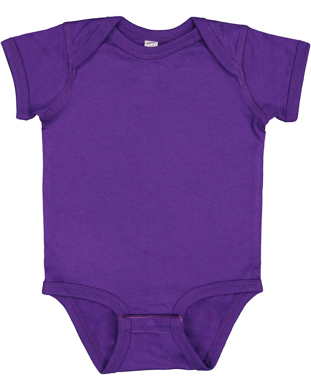 Rabbit Skins Infant Fine Jersey Bodysuit PRO PURPLE
