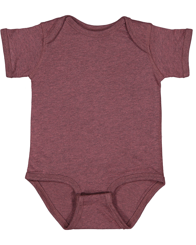 Rabbit Skins Infant Fine Jersey Bodysuit SANGRIA BLACKOUT