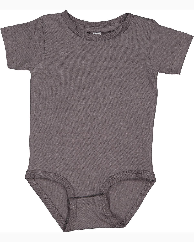 Rabbit Skins Infant Premium Jersey Bodysuit CHARCOAL
