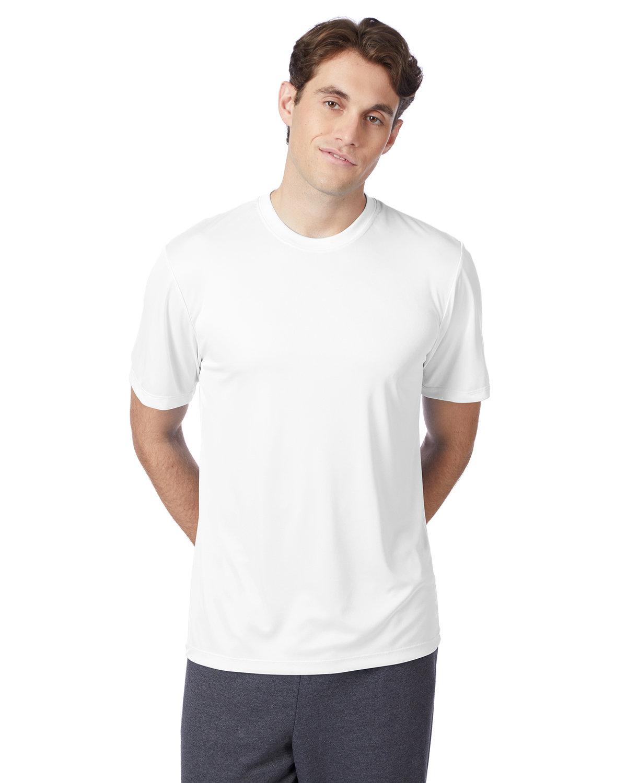 Hanes Adult Cool DRI® with FreshIQ T-Shirt WHITE