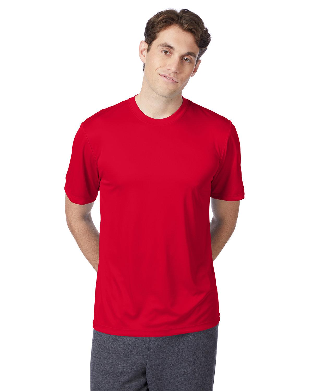 Hanes Adult Cool DRI® with FreshIQ T-Shirt DEEP RED