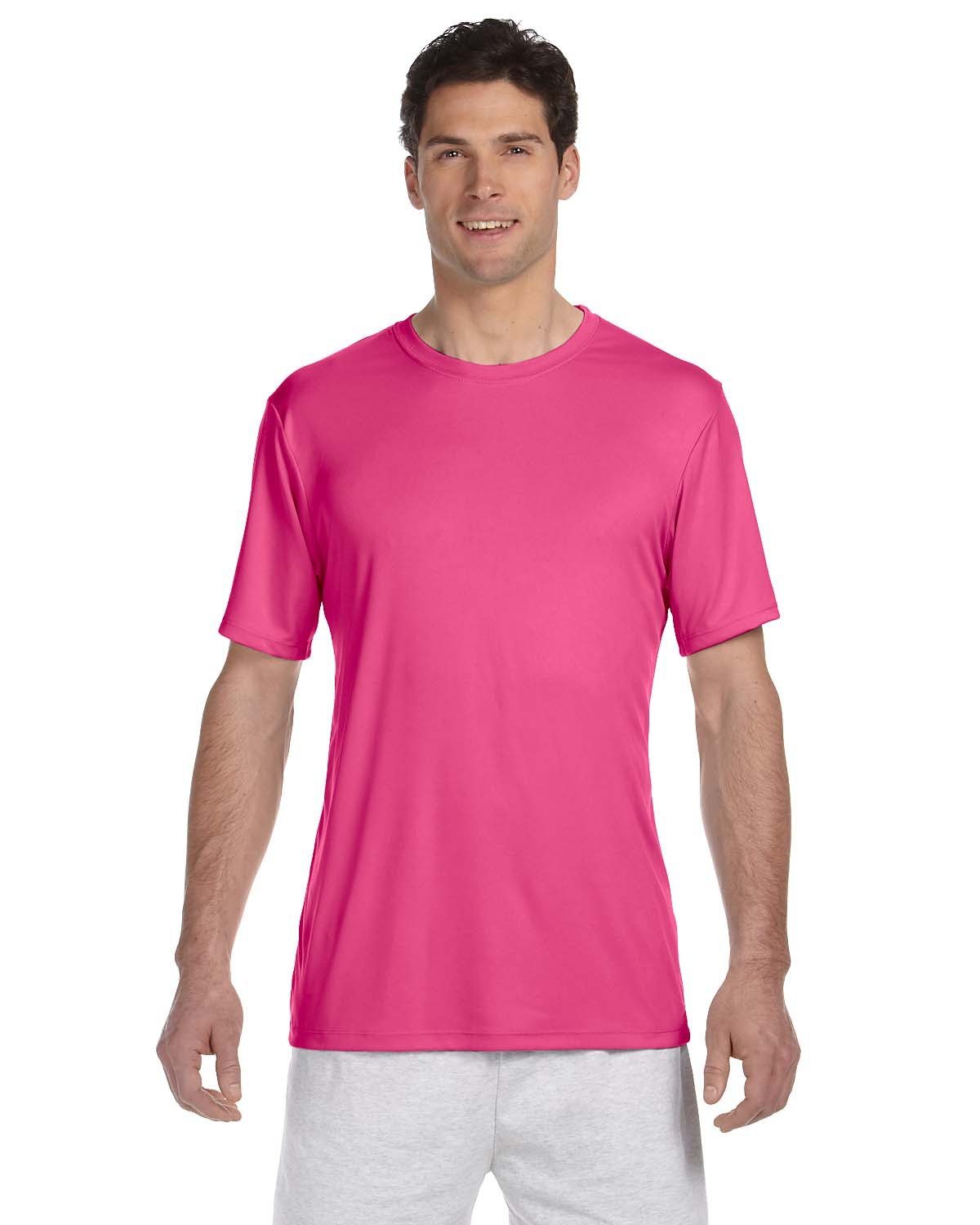 Hanes Adult Cool DRI® with FreshIQ T-Shirt WOW PINK