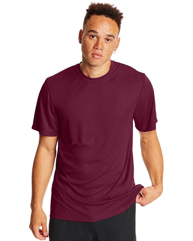 Hanes Adult Cool DRI® with FreshIQ T-Shirt MAROON
