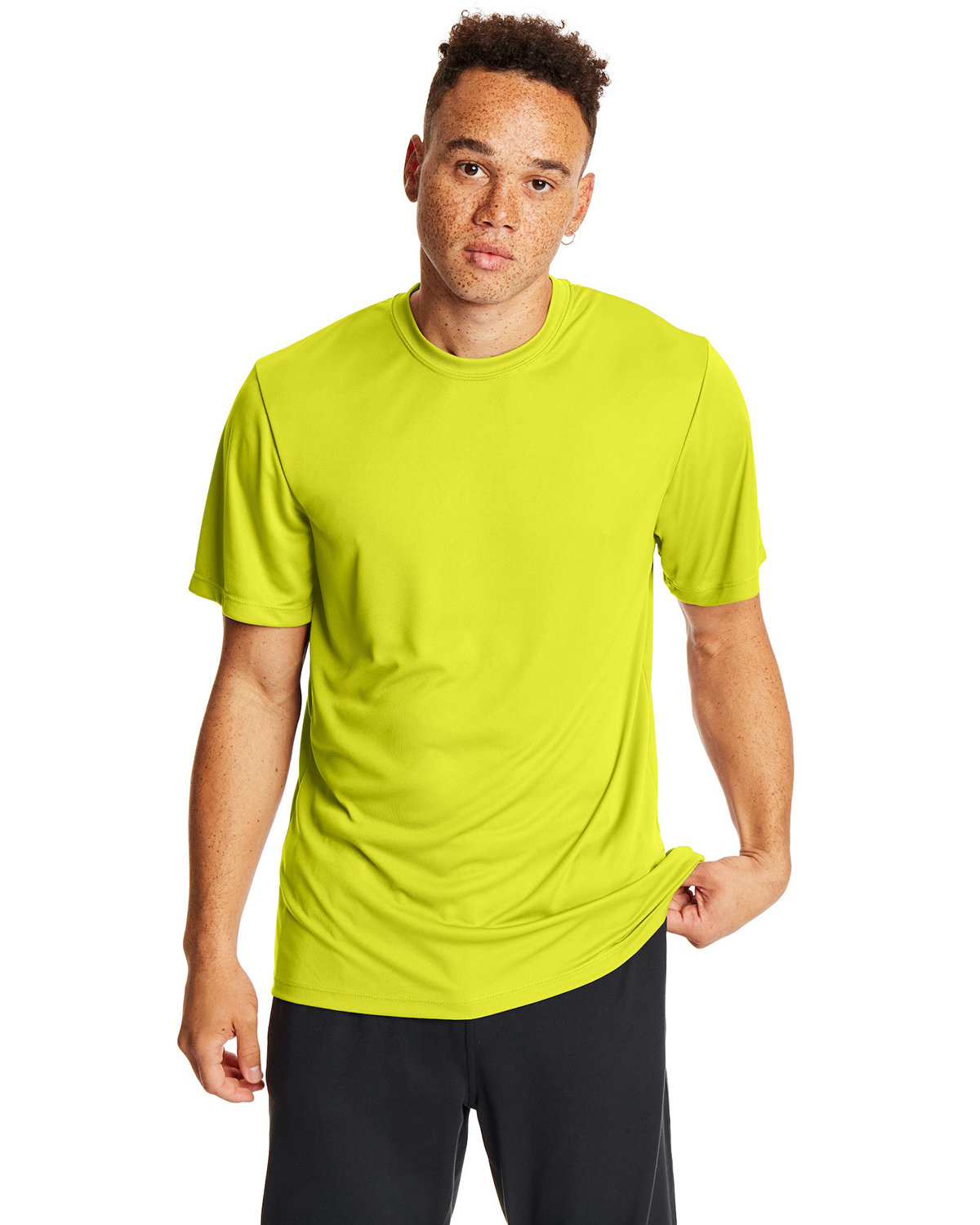 Hanes Adult Cool DRI® with FreshIQ T-Shirt SAFETY GREEN