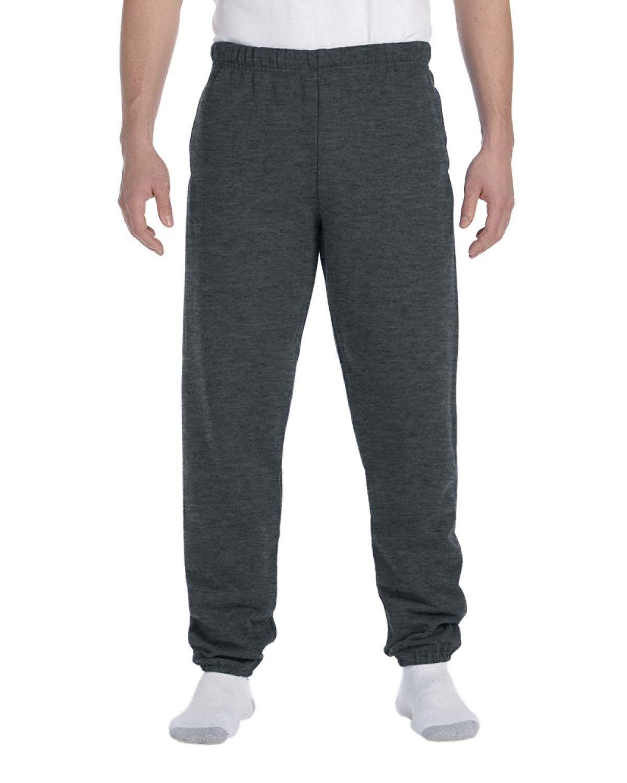 Jerzees Adult Super Sweats® NuBlend® Fleece Pocketed Sweatpants BLACK HEATHER
