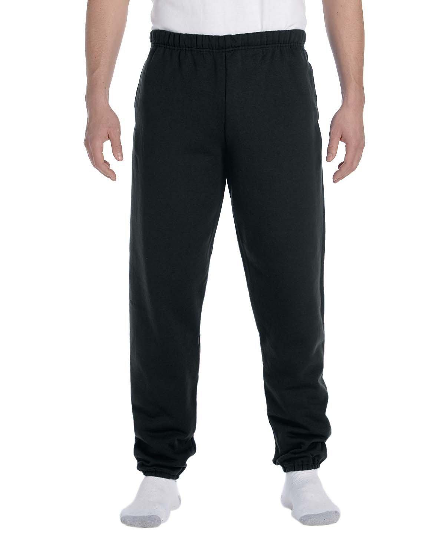 Jerzees Adult Super Sweats® NuBlend® Fleece Pocketed Sweatpants BLACK