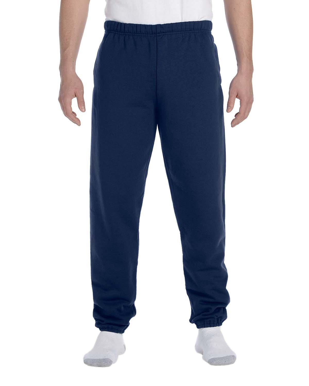 Jerzees Adult Super Sweats® NuBlend® Fleece Pocketed Sweatpants J NAVY