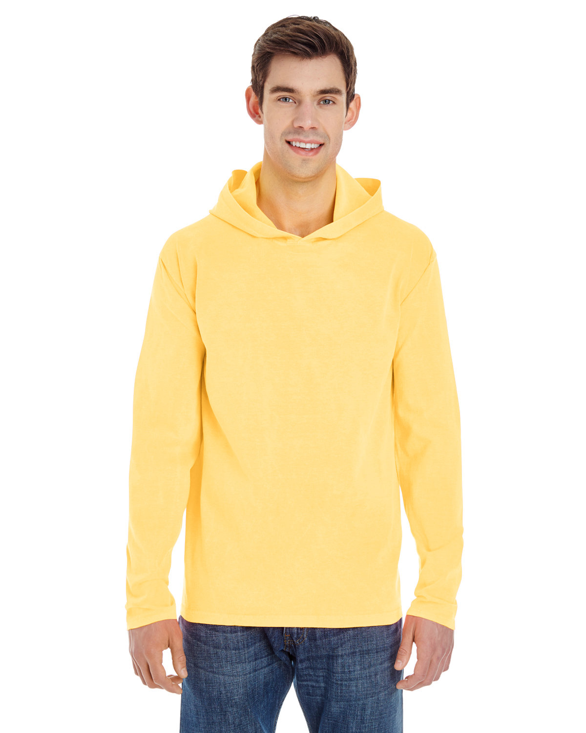 Comfort Colors Adult Heavyweight RS Long-Sleeve Hooded T-Shirt BUTTER