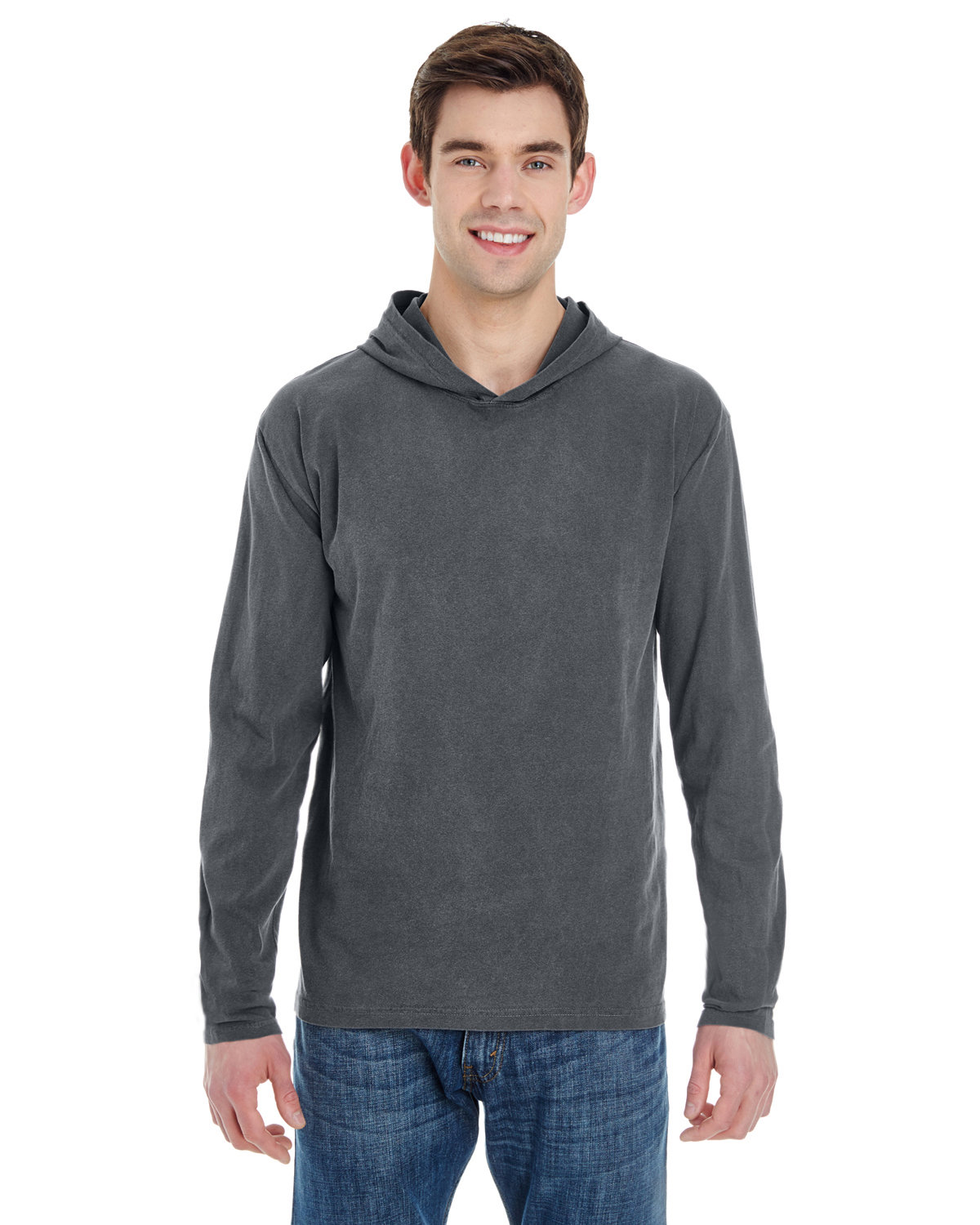 Comfort Colors Adult Heavyweight RS Long-Sleeve Hooded T-Shirt PEPPER