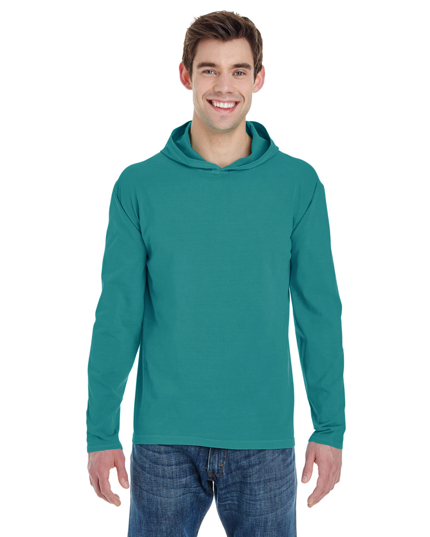 Comfort Colors Adult Heavyweight Long-Sleeve Hooded T-Shirt SEAFOAM