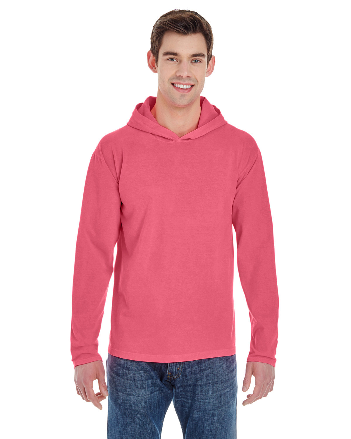 Comfort Colors Adult Heavyweight RS Long-Sleeve Hooded T-Shirt WATERMELON