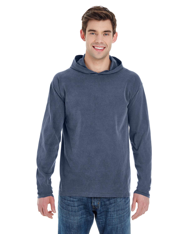 Comfort Colors Adult Heavyweight Long-Sleeve Hooded T-Shirt DENIM