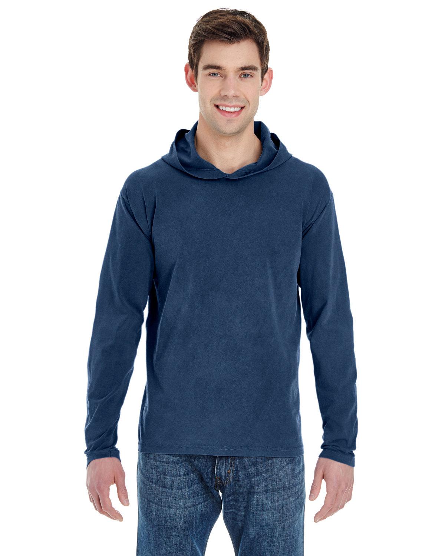 Comfort Colors Adult Heavyweight Long-Sleeve Hooded T-Shirt TRUE NAVY