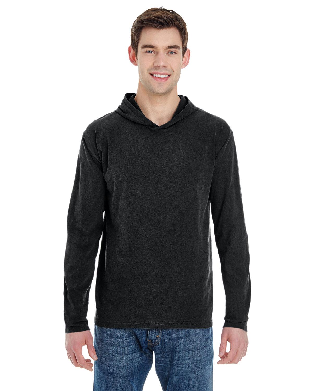Comfort Colors Adult Heavyweight Long-Sleeve Hooded T-Shirt BLACK