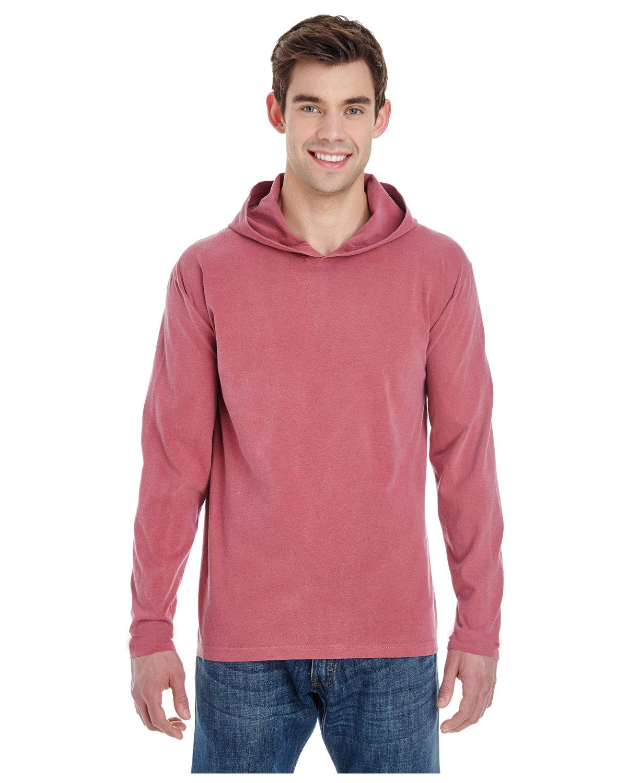 Comfort Colors Adult Heavyweight Long-Sleeve Hooded T-Shirt BRICK