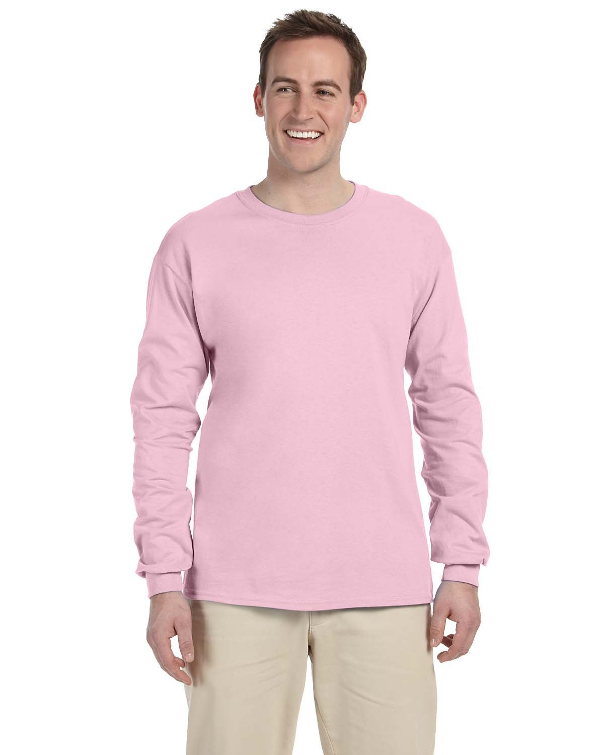 Fruit of the Loom Adult HD Cotton™ Long-Sleeve T-Shirt CLASSIC PINK