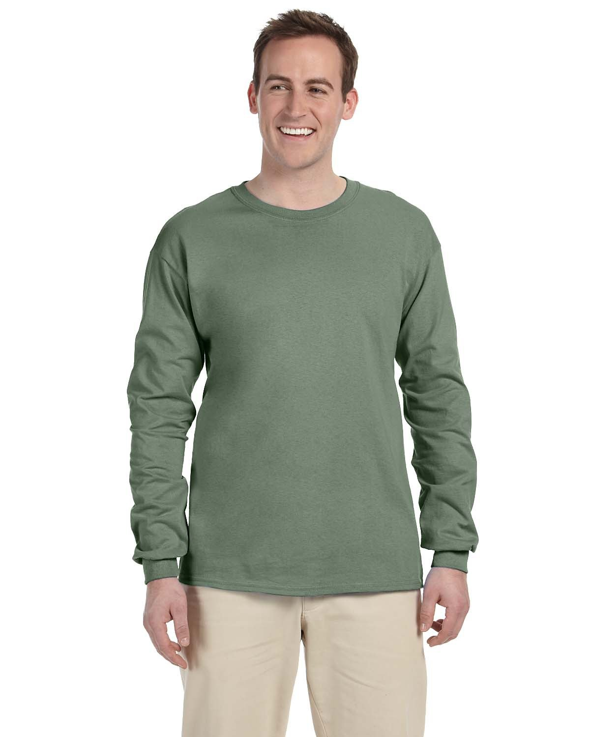 Fruit of the Loom Adult HD Cotton™ Long-Sleeve T-Shirt SAGESTONE