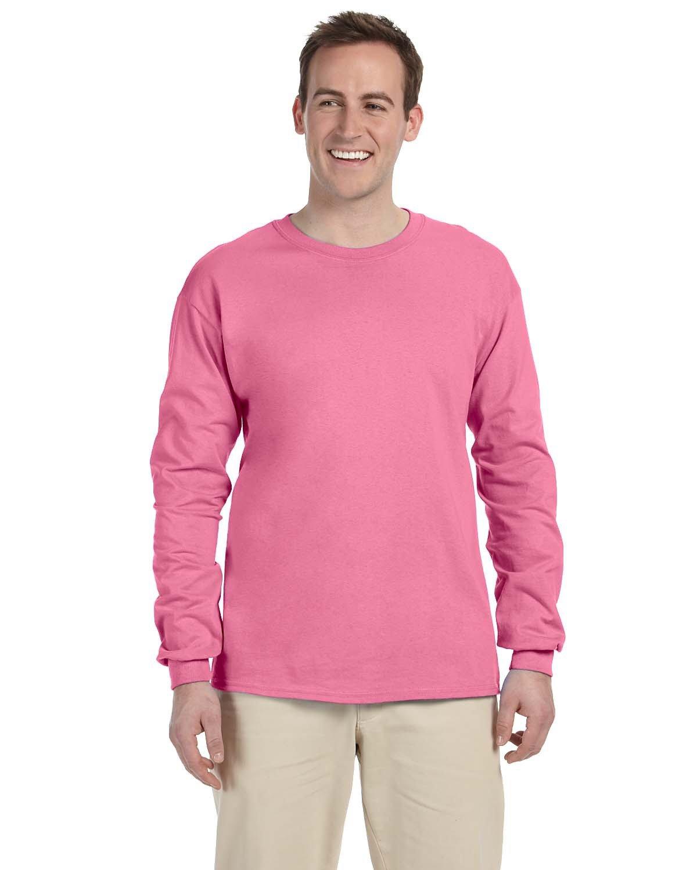 Fruit of the Loom Adult HD Cotton™ Long-Sleeve T-Shirt AZALEA