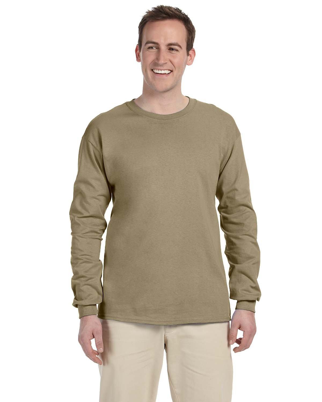 Fruit of the Loom Adult HD Cotton™ Long-Sleeve T-Shirt KHAKI