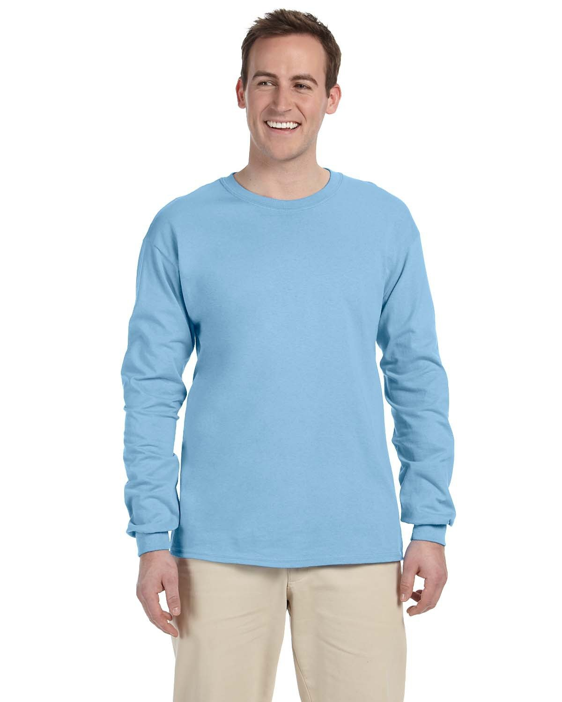 Fruit of the Loom Adult HD Cotton™ Long-Sleeve T-Shirt LIGHT BLUE