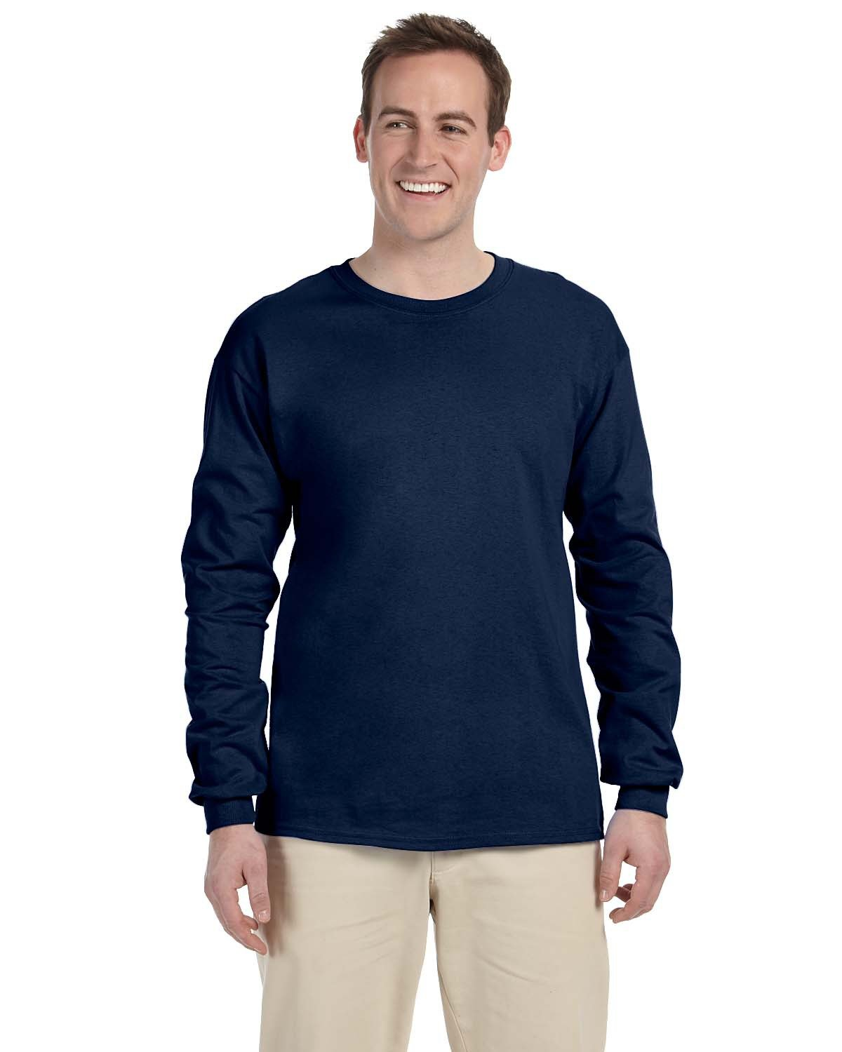 Fruit of the Loom Adult HD Cotton™ Long-Sleeve T-Shirt J NAVY