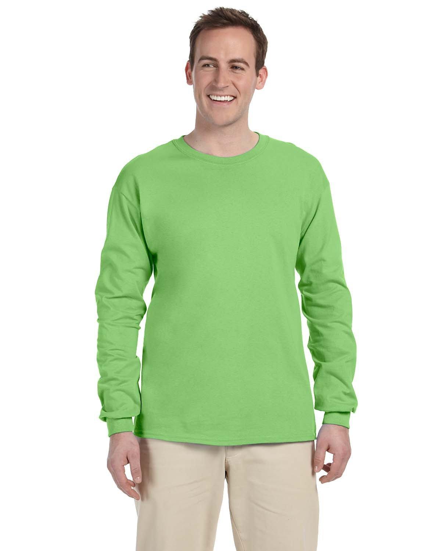 Fruit of the Loom Adult HD Cotton™ Long-Sleeve T-Shirt KIWI