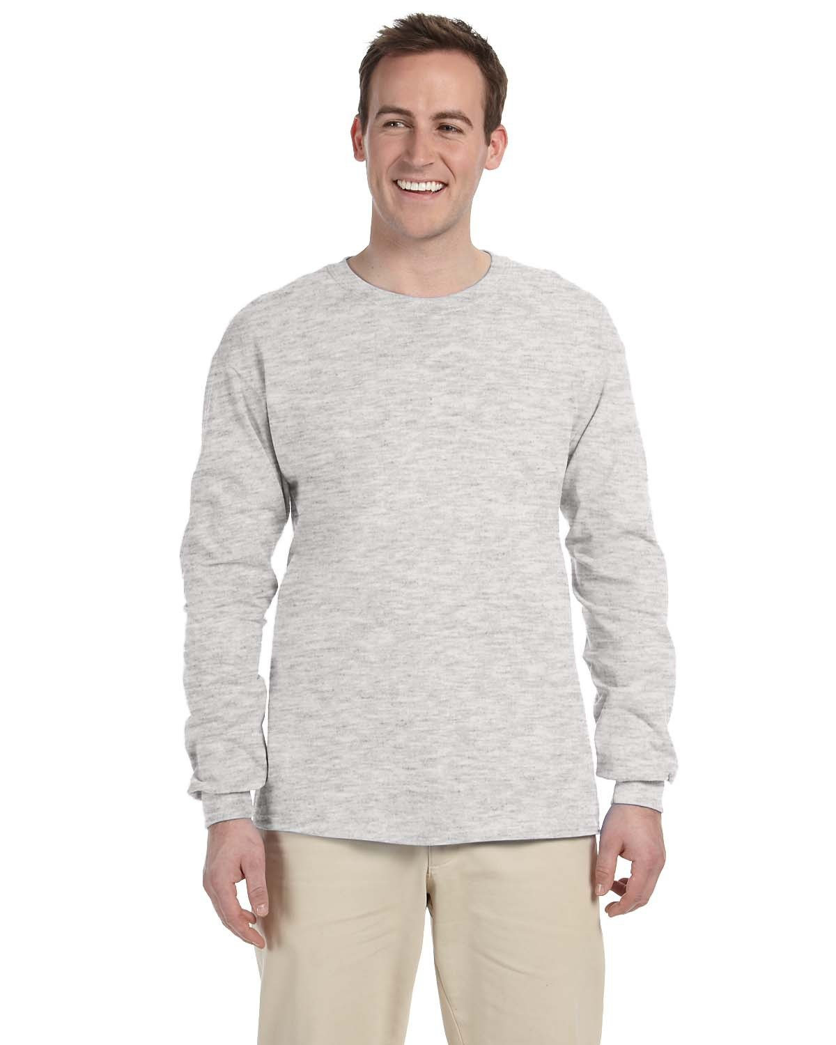 Fruit of the Loom Adult HD Cotton™ Long-Sleeve T-Shirt ASH