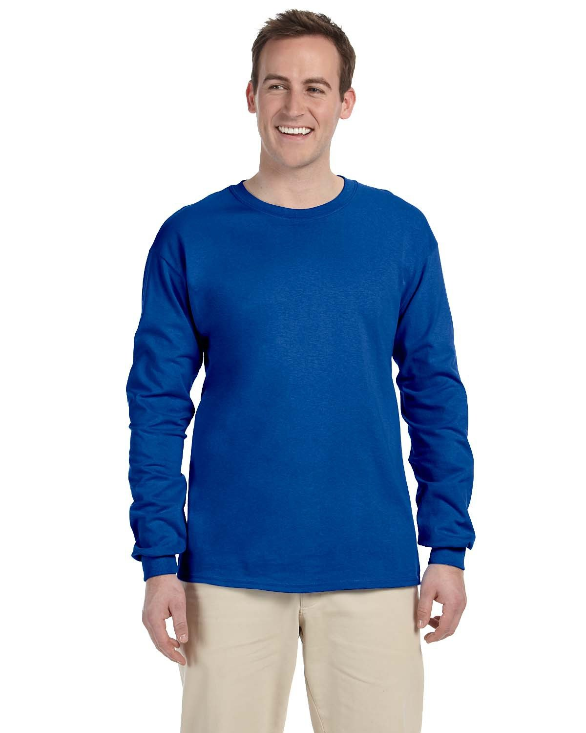 Fruit of the Loom Adult HD Cotton™ Long-Sleeve T-Shirt ROYAL
