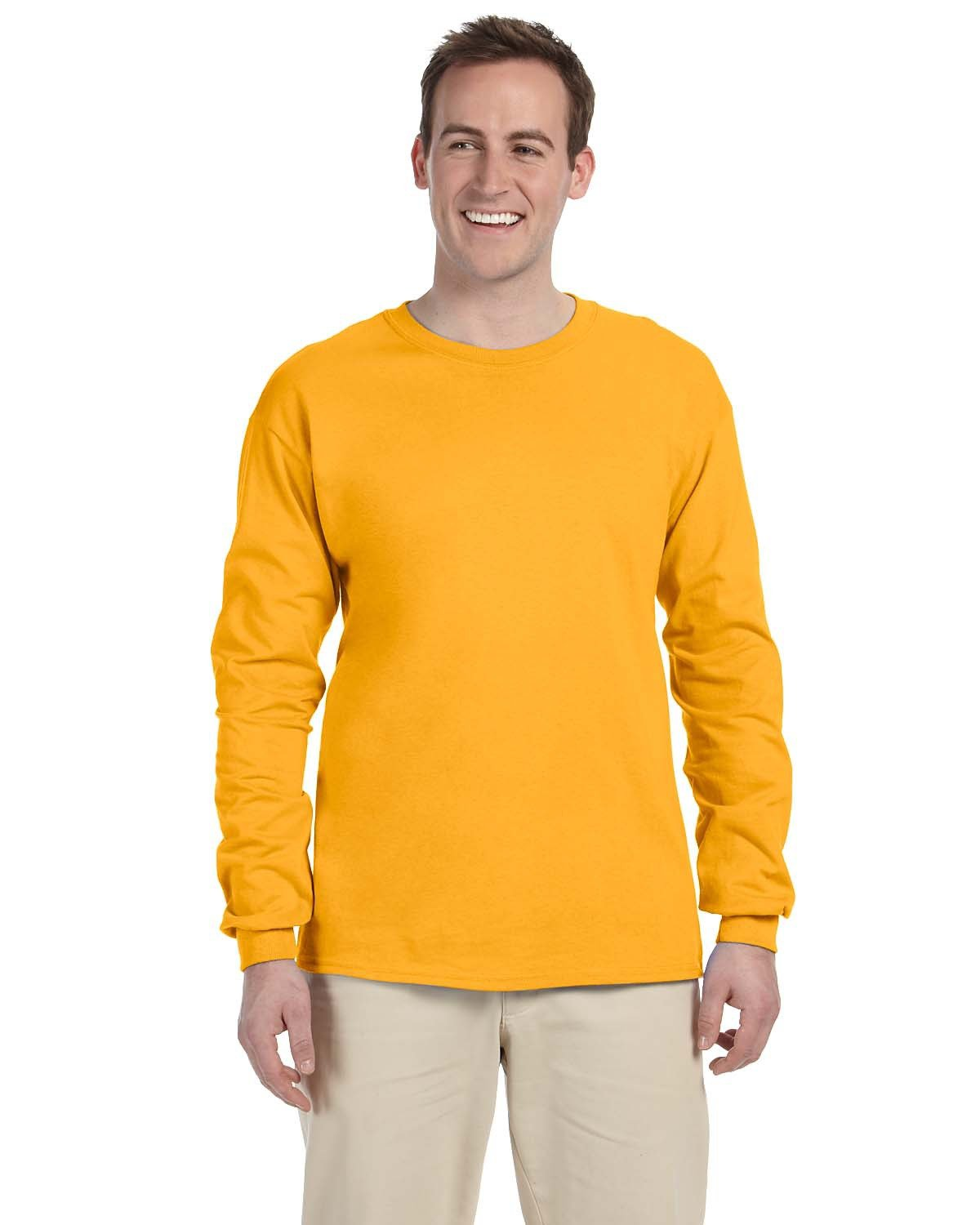 Fruit of the Loom Adult HD Cotton™ Long-Sleeve T-Shirt GOLD