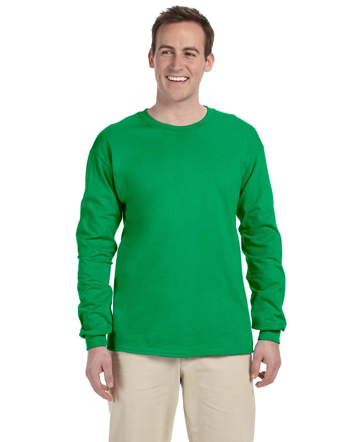 Fruit of the Loom Adult HD Cotton™ Long-Sleeve T-Shirt KELLY
