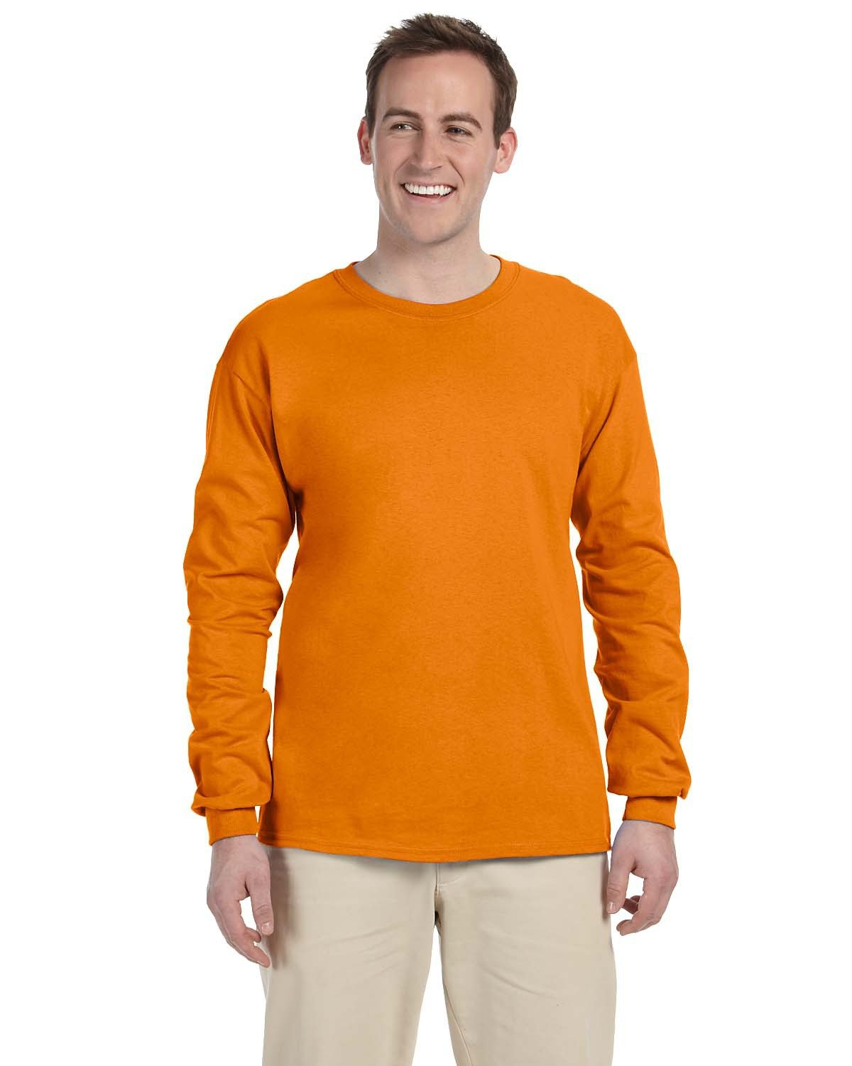 Fruit of the Loom Adult HD Cotton™ Long-Sleeve T-Shirt TENNESSEE ORANGE
