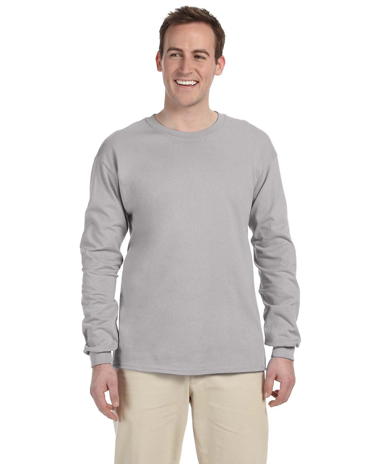 Fruit of the Loom Adult HD Cotton™ Long-Sleeve T-Shirt SILVER
