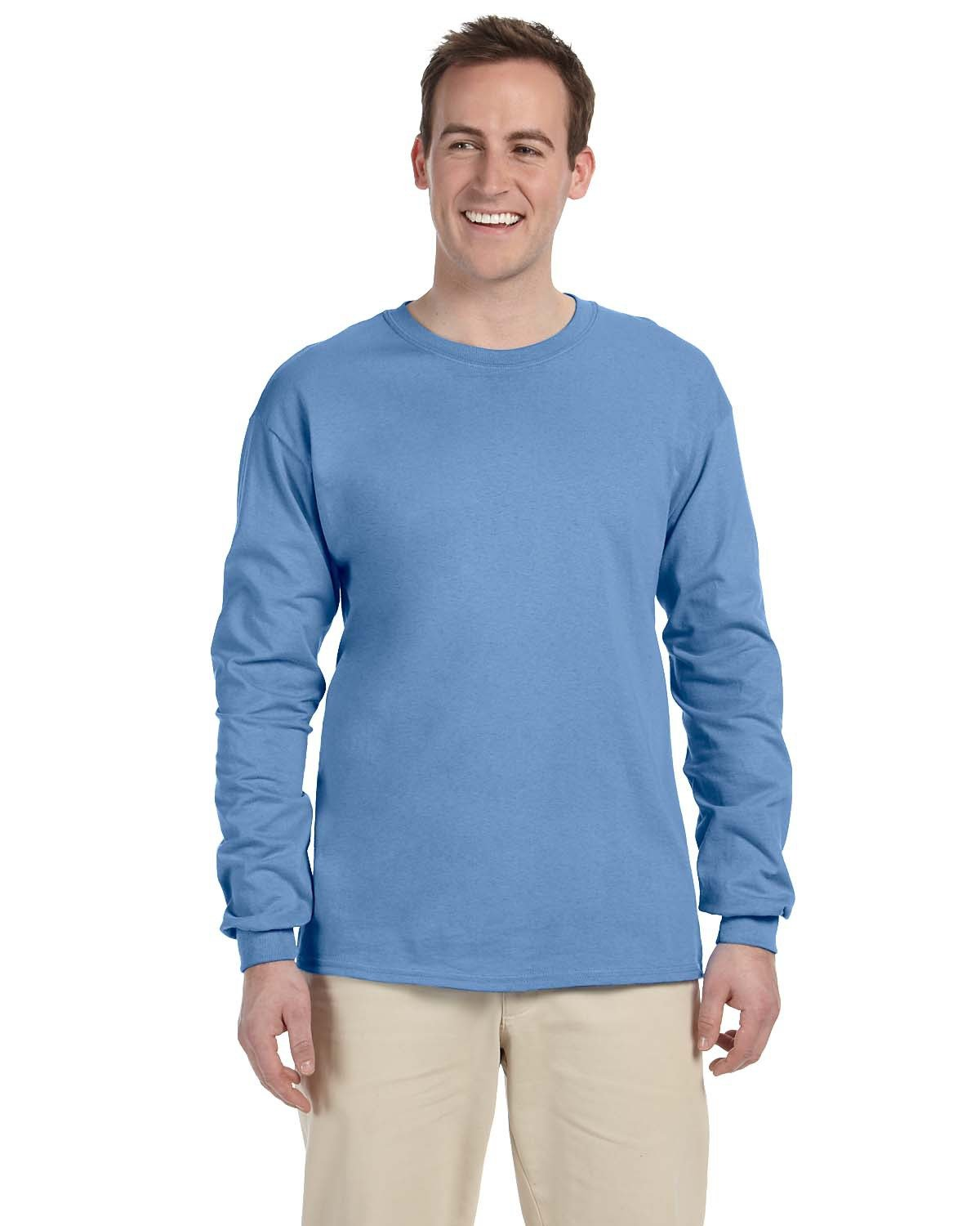 Fruit of the Loom Adult HD Cotton™ Long-Sleeve T-Shirt COLUMBIA BLUE