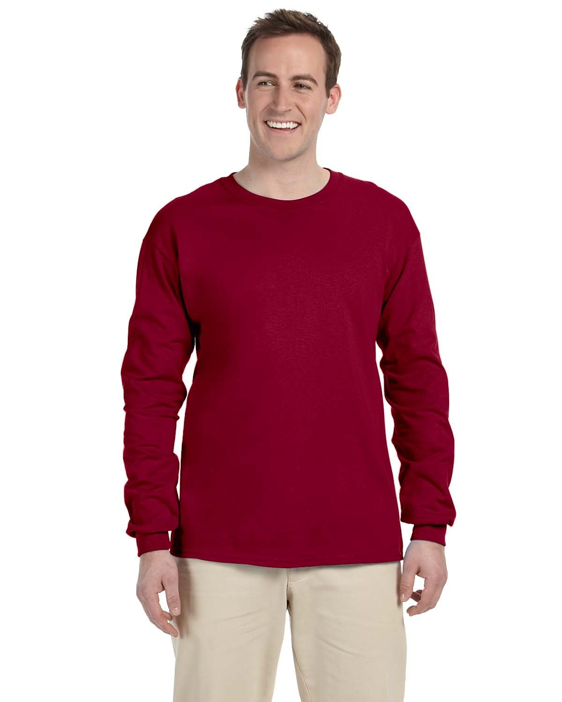 Fruit of the Loom Adult HD Cotton™ Long-Sleeve T-Shirt CARDINAL