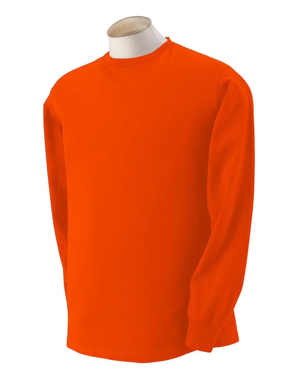 Fruit of the Loom Adult HD Cotton™ Long-Sleeve T-Shirt BURNT ORANGE