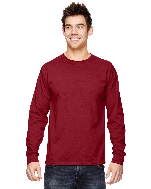 Fruit of the Loom Adult HD Cotton™ Long-Sleeve T-Shirt CRIMSON