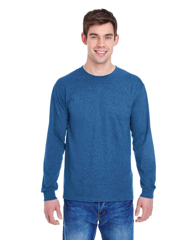 Fruit of the Loom Adult HD Cotton™ Long-Sleeve T-Shirt RETRO HTHR ROYAL