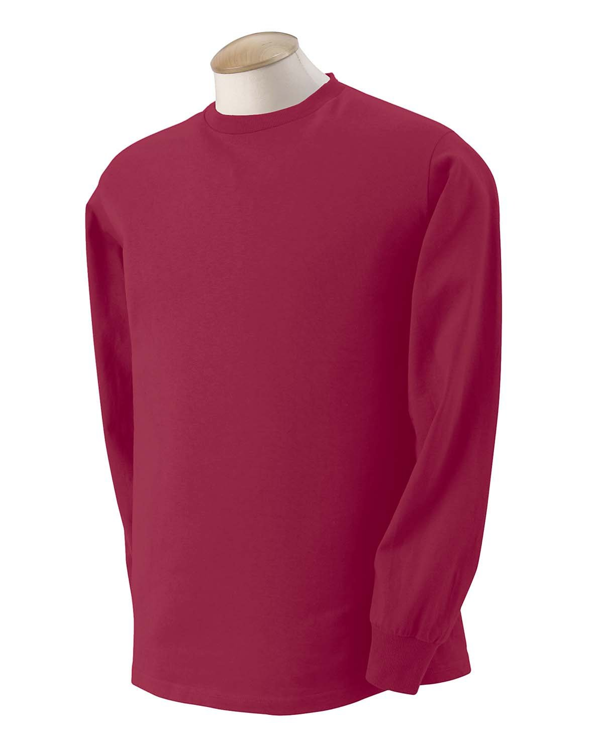 Fruit of the Loom Adult HD Cotton™ Long-Sleeve T-Shirt MAROON