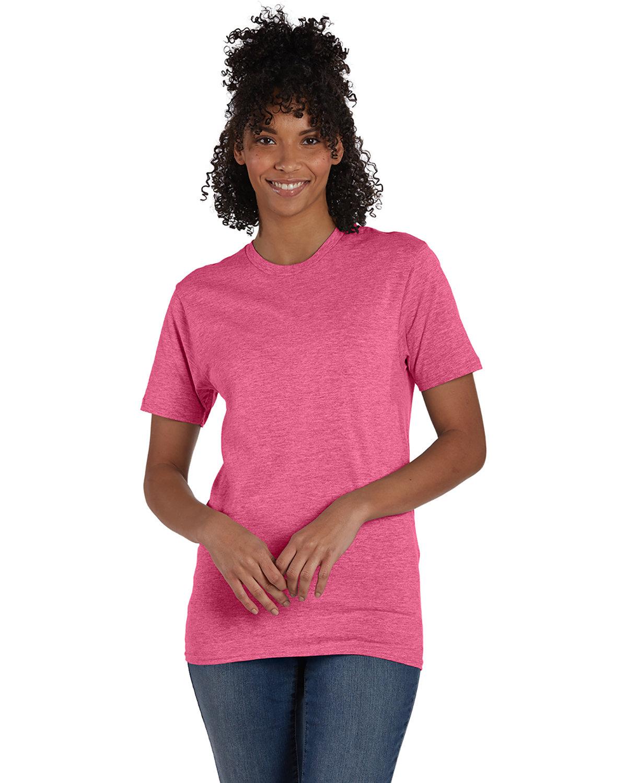 Hanes Unisex Nano-T® T-Shirt WOW PINK HEATHER