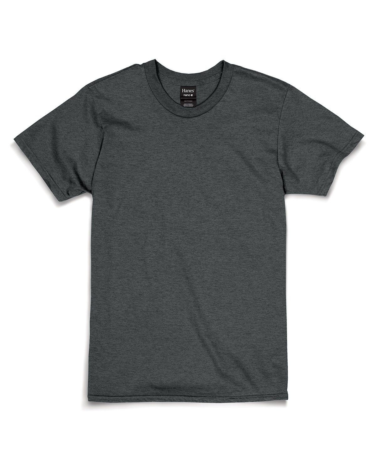 Hanes Unisex Nano-T® T-Shirt CHARCOAL HEATHER