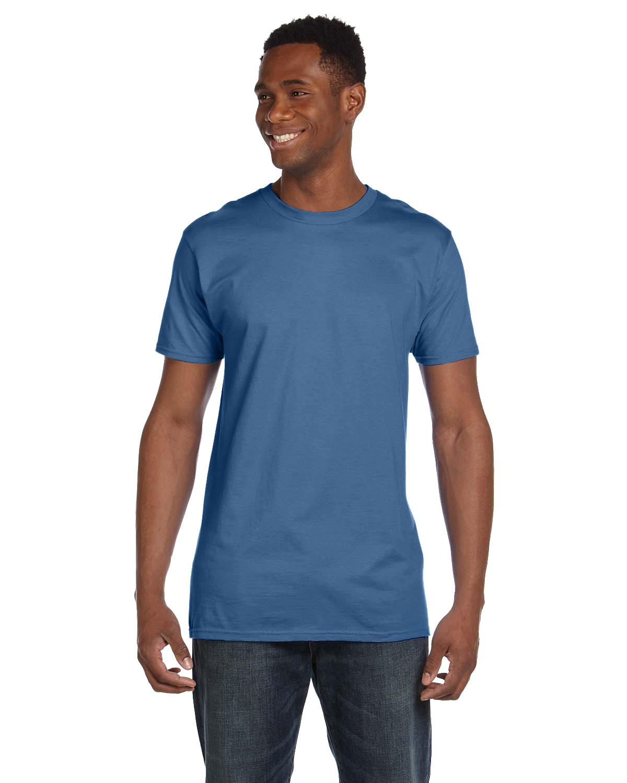 Hanes Unisex Nano-T® T-Shirt HEATHER BLUE