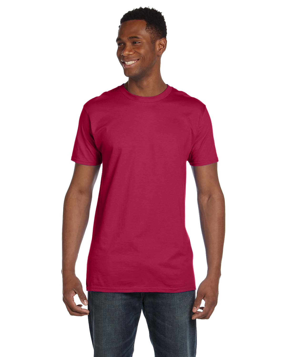 Hanes Unisex Nano-T® T-Shirt HEATHER RED