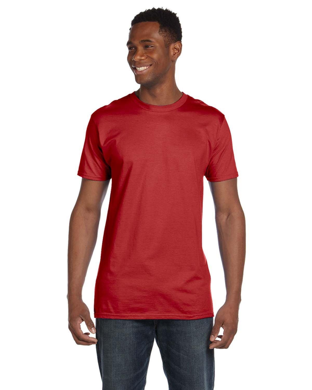 Hanes Unisex Nano-T® T-Shirt VINTAGE RED