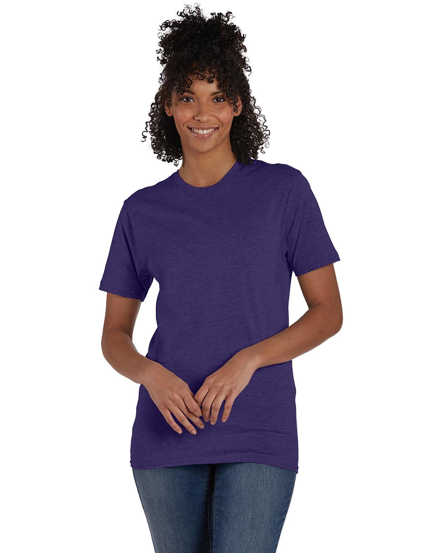Hanes Unisex Nano-T® T-Shirt GRAPE SMASH HTHR