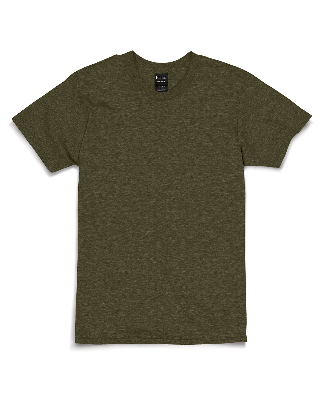 Hanes Unisex Nano-T® T-Shirt MILITARY GRN HTH