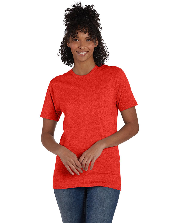 Hanes Unisex Nano-T® T-Shirt POPPY HEATHER