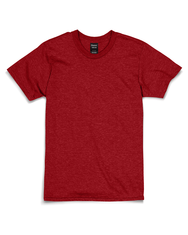 Hanes Unisex Nano-T® T-Shirt RED PEPPER HTHR