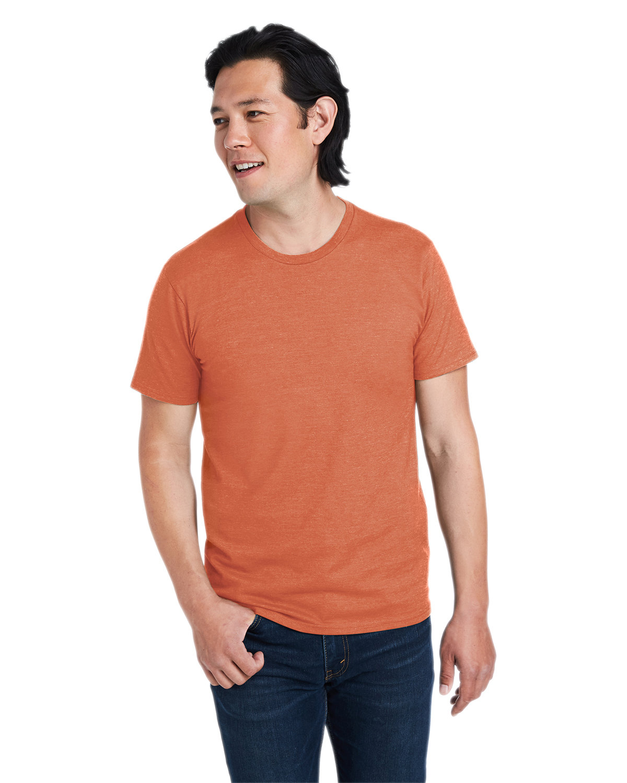 Hanes Unisex Perfect-T T-Shirt PUMPKIN HEATHER